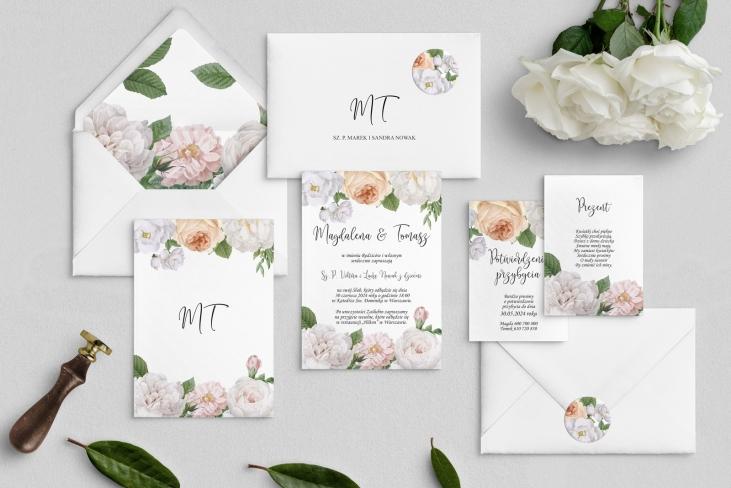 Zaproszenia ślubne Ofelia - Motyw 3