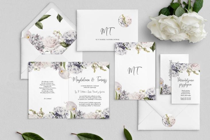 Zaproszenia ślubne Ofelia - Składane Motyw 1