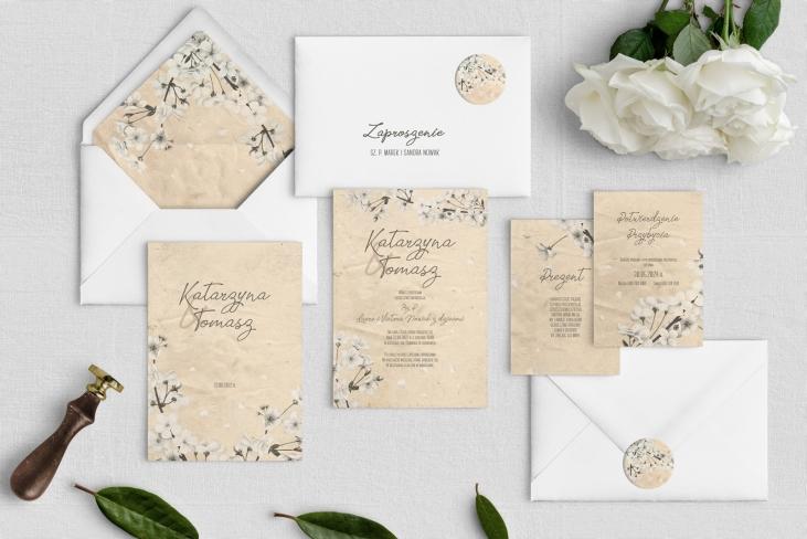 Zaproszenia ślubne Old Fashion - Motyw 2
