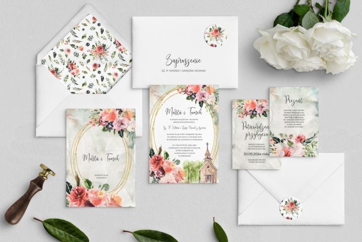 Zaproszenia ślubne Spring Love - Motyw 1