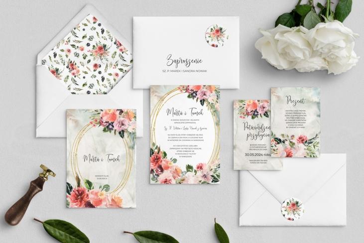 Zaproszenia ślubne Spring Love - Motyw 2
