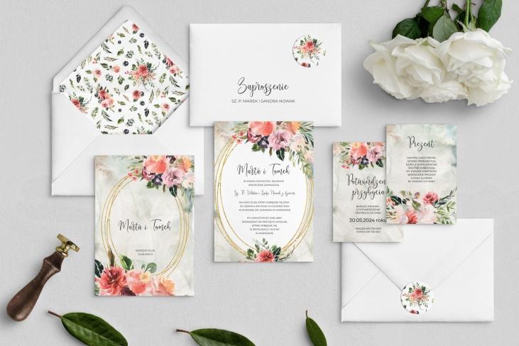 Zaproszenia ślubne Spring Love - Motyw 3