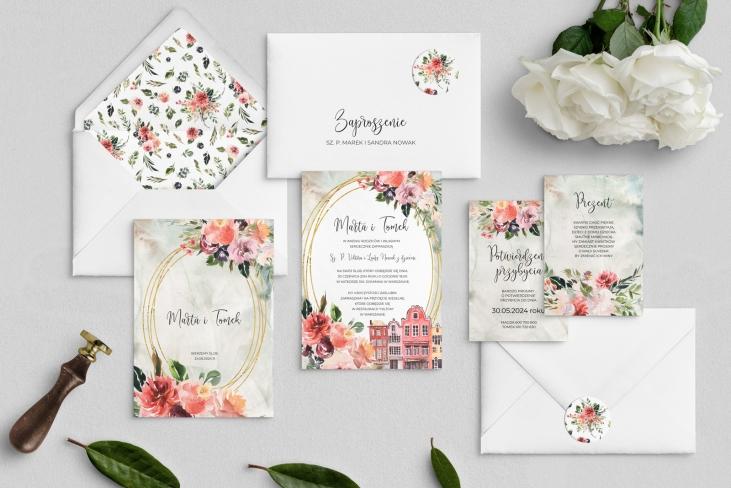 Zaproszenia ślubne Spring Love - Motyw 5