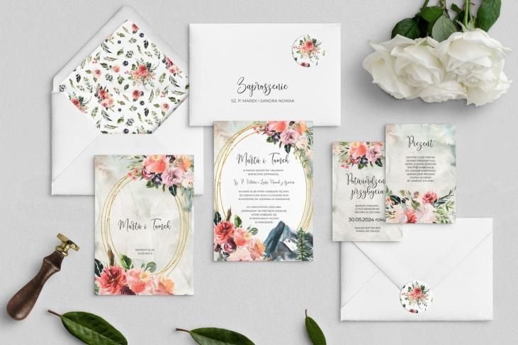 Zaproszenia ślubne Spring Love - Motyw 6