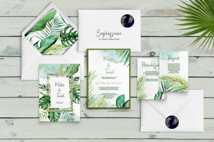 Zaproszenia ślubne Tropical - Motyw 2