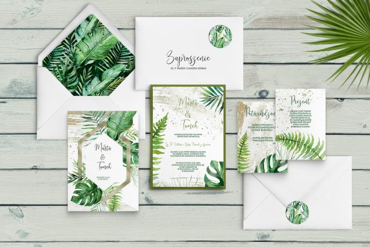 Zaproszenia ślubne Tropical - Motyw 1
