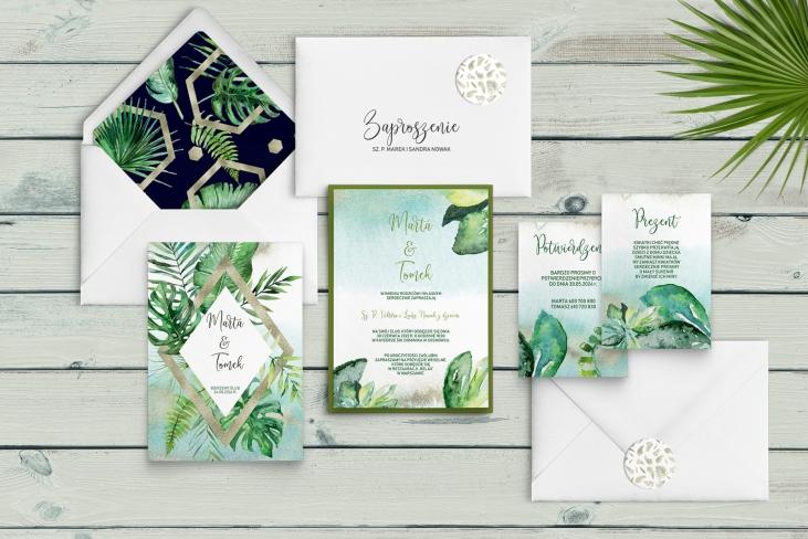 Zaproszenia ślubne Tropical - Motyw 3