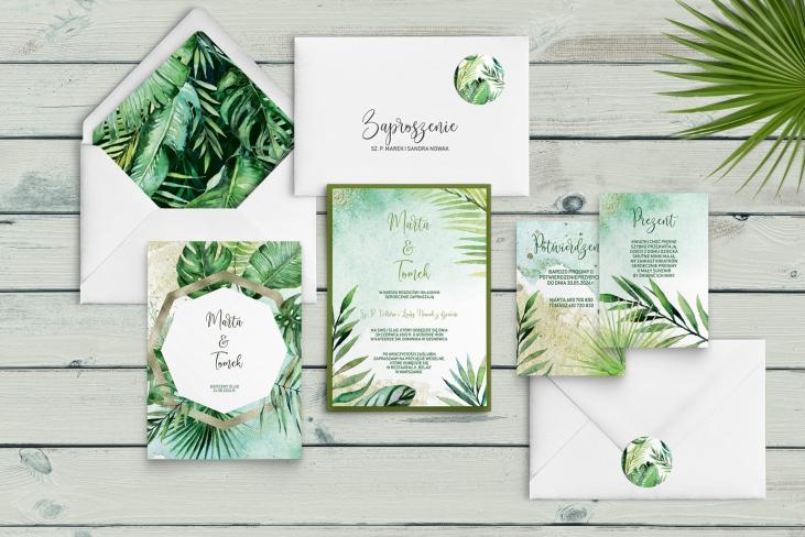 Zaproszenia ślubne Tropical - Motyw 4
