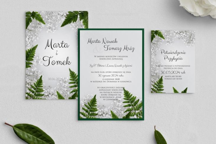 Zaproszenia ślubne Soft - Motyw 2