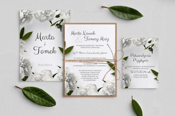 Zaproszenia ślubne Soft - Motyw 3